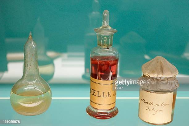 Institut Pasteur Museum Paris France Room Of Scientific Souvenirs Emulsions Of Rabbit Spinal Cord Inoculated With Rabies Virus Aimed At Vaccination
