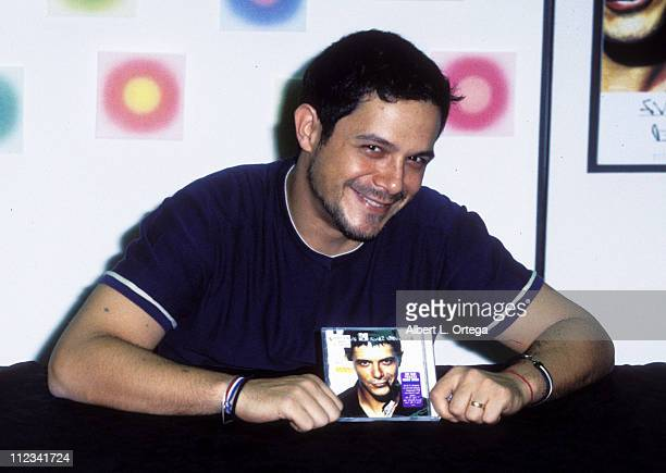 Instore appearance of Alejandro Sanz at Tower Records on Sunset