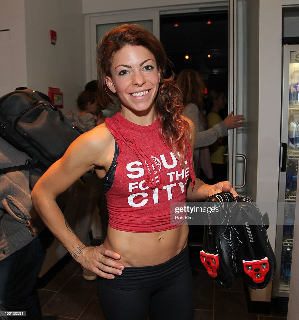 Instructor Kym Perfetto attends SoulCycle's Soul Relief Rides at SoulCycle Tribeca on November 11, 2012 in New York City.