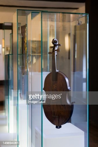 Instrument display in Bachhaus Bach House Museum.