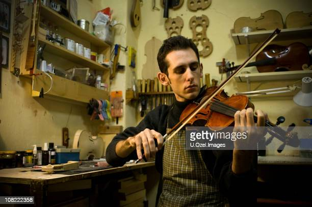 Instrument Maker in Violin Studio