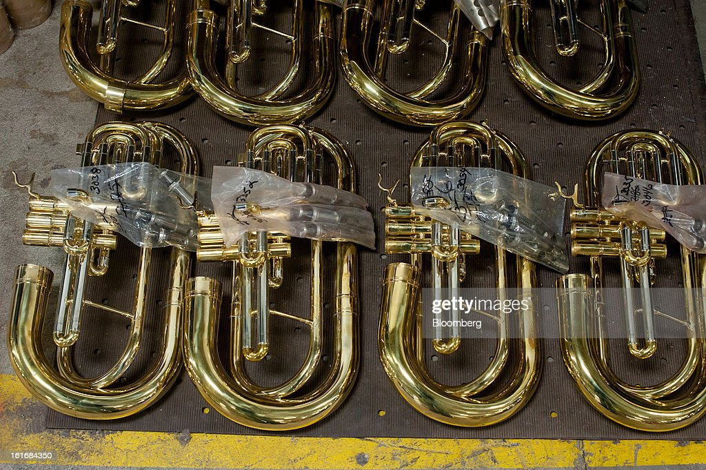 Instruments wait to be assembled in the manufacturing department of the E.K Blessing Co. in Elkhart, Indiana, U.S., on Thursday, Feb. 7, 2013. Photographer: Ty Wright/Bloomberg via Getty Images