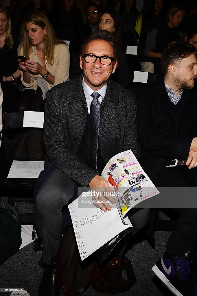 InStyle editor Hal Rubenstein attends the Rachel Zoe Fall 2013 fashion show during Mercedes-Benz Fashion Week at The Studio at Lincoln Center on February 13, 2013 in New York City.