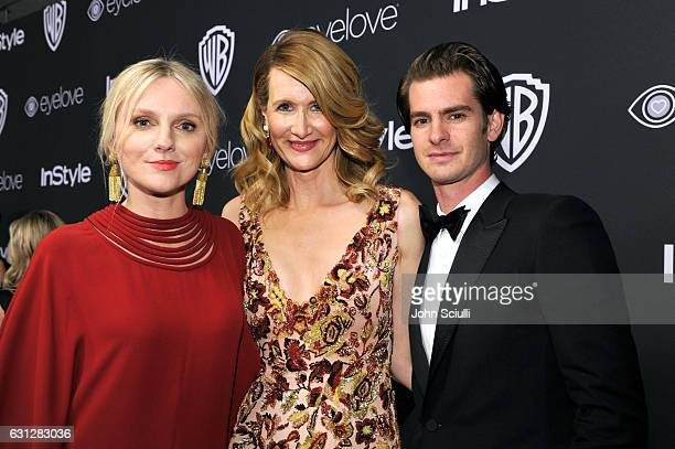 InStyle EditorinChief Laura Brown actors Laura Dern and Andrew Garfield attend The 2017 InStyle and Warner Bros 73rd Annual Golden Globe Awards...