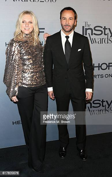 InStyle EditorinChief Laura Brown and fashion designer Tom Ford attend the 2nd Annual InStyle Awards at Getty Center on October 24 2016 in Los...