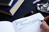 Insulin Resistance handwritten in a note pad.