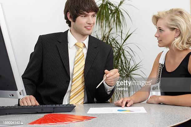 Insurance agent bei der Arbeit