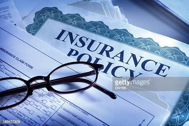 Formulaire de réclamation d'assurance et de la police d'assurance