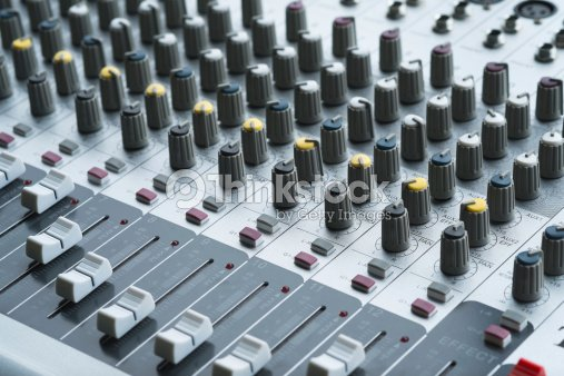 Integrated Amplifier And Equalizer Mixer Switch Stock Photo