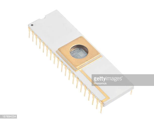 Integrated circuit with the microprocessor visible