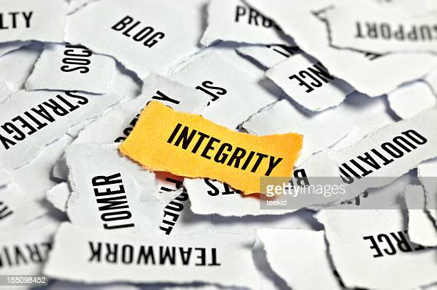Integrity Word On Paper