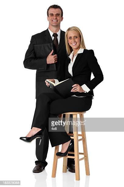Inteligent business couple
