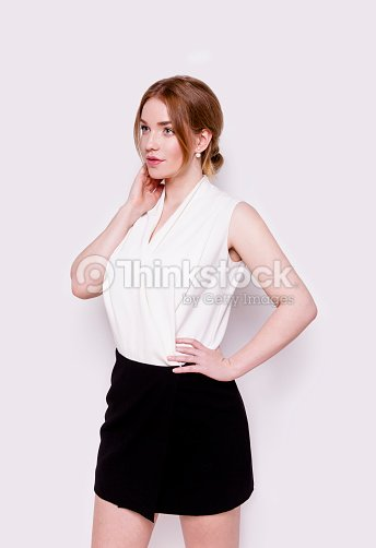 572e592783194d Intelligent young woman wearing smart casual clothes beautiful confident  business work successful