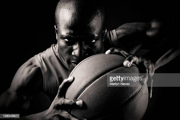 intense basketball player