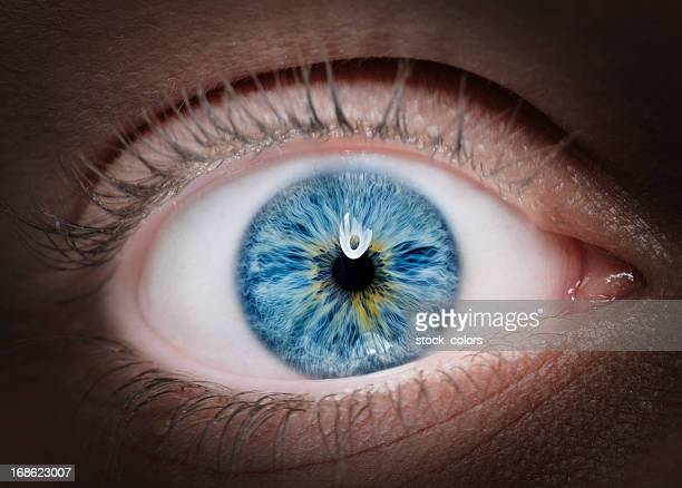 Occhio blu intenso