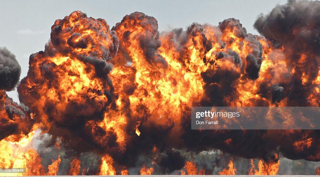Intense Explosion : Stock Photo