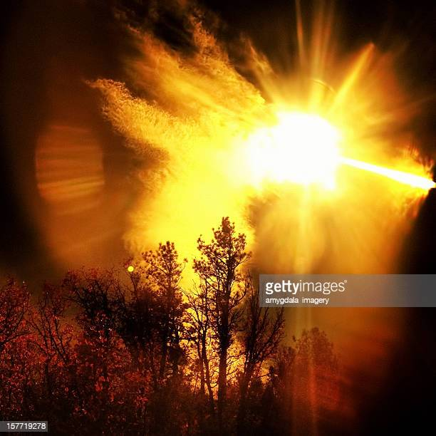 intense landscape sun