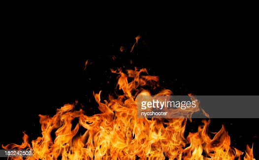 Intense REAL fire flames