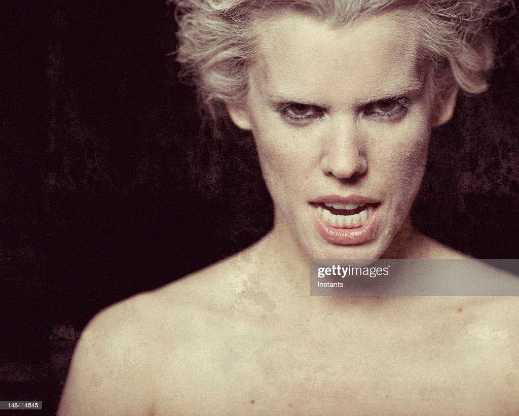 Intense Woman : Stock Photo