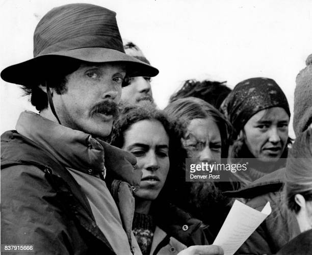 Intentions to Stay Announced Roy Young left turns while announcing intentions of a group of demonstrators protesting nuclear weapons to remain camped...