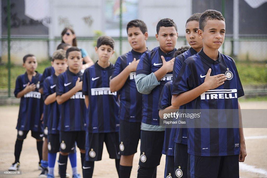 Inter Campus SAP Brazil Football Project on June 14 2014 in Favela Vila dos Pinheiros Rio de Janeiro Brazil
