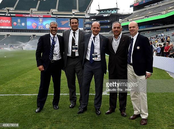 CEO FC Inter Milan Michael Bolingbroke CEO AS Roma Italo Zanzi DG AS Roma Mauro Baldissoni President AS Roma James Pallotta DG FC Inter Milan Marco...