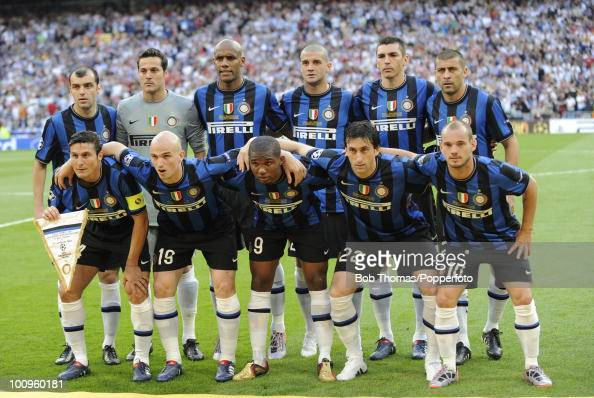 Inter Milan team group before the start of the UEFA Champions League Final match between Bayern Munich and Inter Milan at the Estadio Santiago...