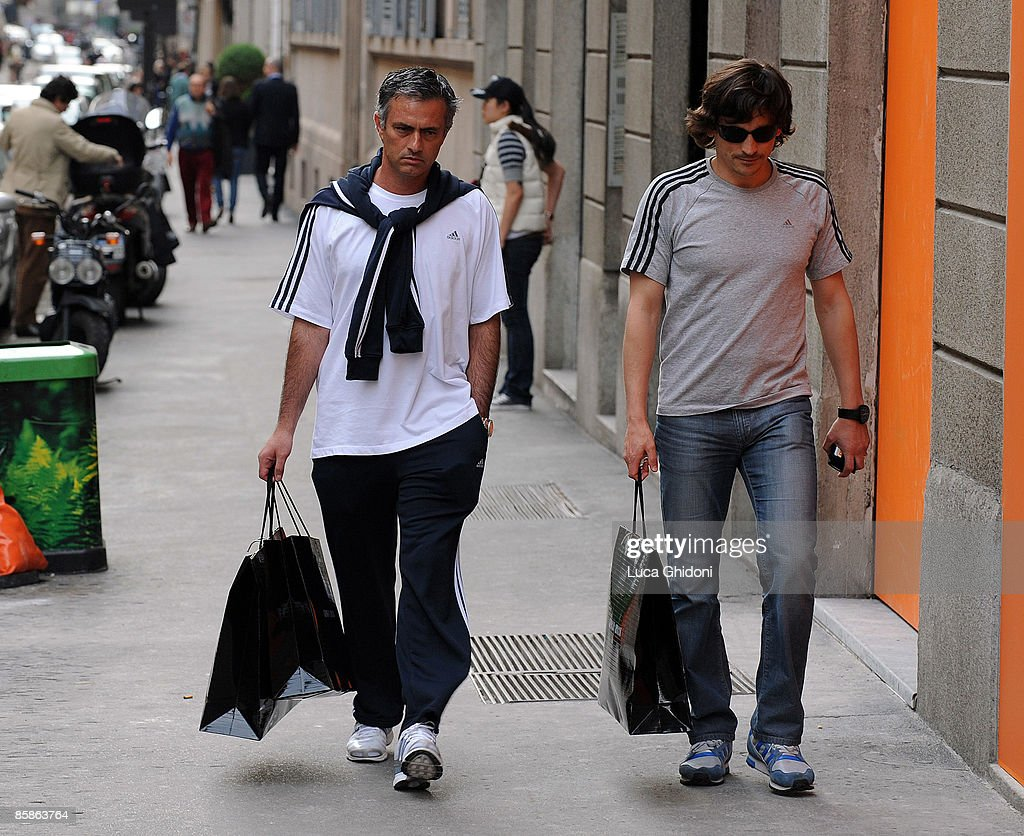 Jose Mourinho Sighting In Milan On April 8, 2009