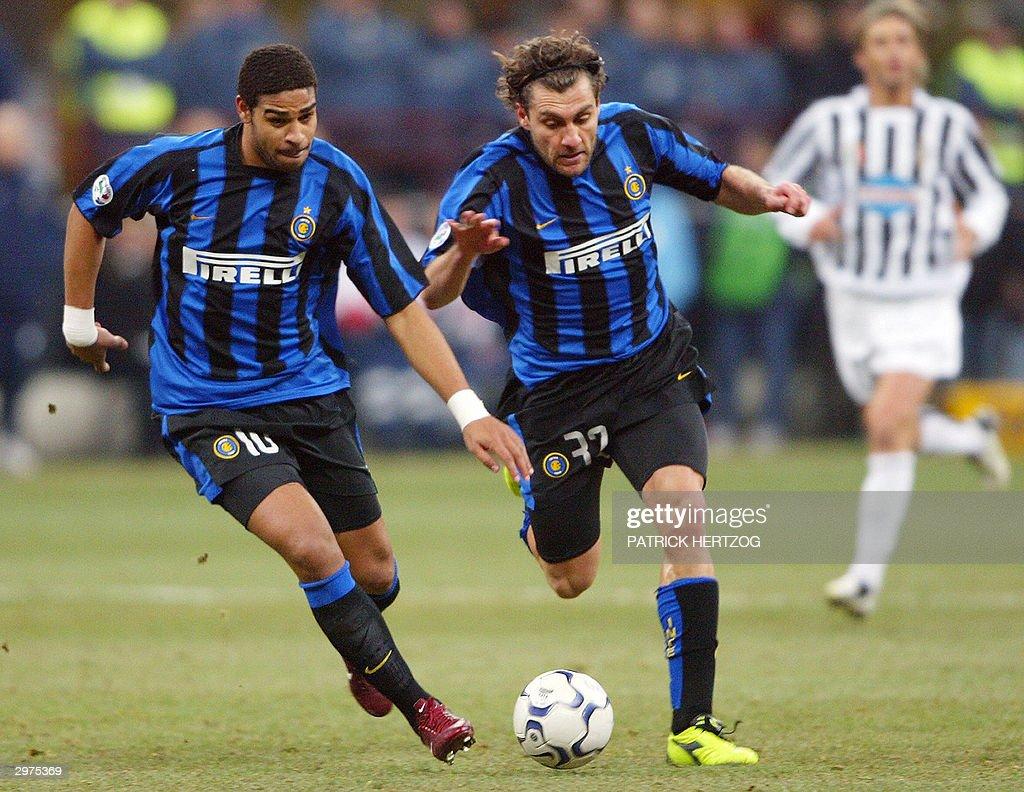 Inter Milan s striker Christian Vieri R