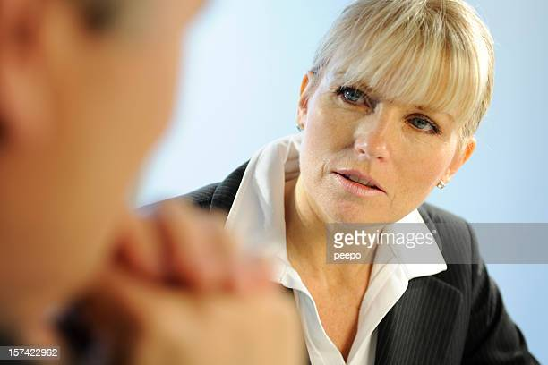 Interacting Business Woman