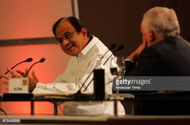 interaction between Finance Minister P Chidambaram and BBC presenter Nick Gowing at the leadearship summit 2007 on Friday