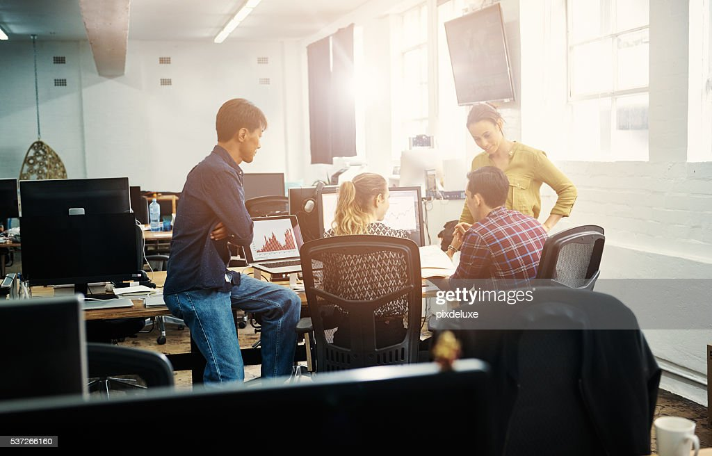 Interactive meetings work best for their business : Stock Photo