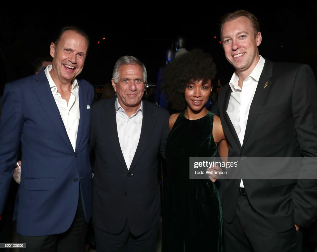 Interactive President and CEO Armando Nunez, CBS Chairman and CEO Leslie Moonves, Sonequa Martin-Green, CBS Interactive President and COO Marc DeBevoise attend the after party for the premiere of CBS's 'Star Trek: Discovery' at the Dream Hotel on September 19, 2017 in Los Angeles, California.