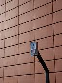Intercom on wall