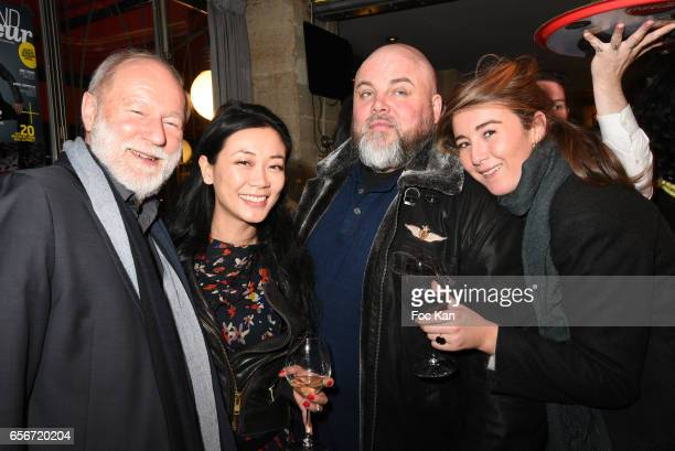Interfel President Bruno Dupont Malika Lamber Olivier Malnuit and Anais Aidoud attend 'Apero Mecs A Legumes' Party Hosted by Grand Seigneur Magazine...