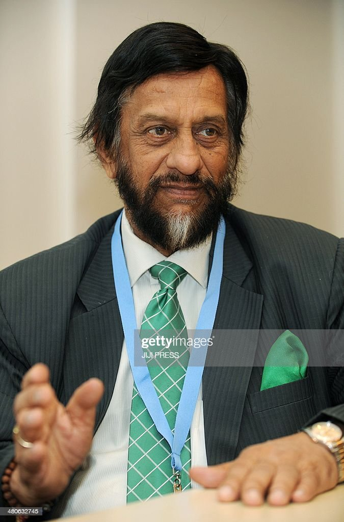Intergovernmental Panel on Climate Change (IPCC) chairman Rajendra Pachauri speaks before the press in Yokohama, suburban Tokyo on March 26, 2014 as he attends the 10th plenary of the IPCC Working Group II in Yokohama. The United Nation's head of climate change issues stressed that the earth's overheating trend, nearly certainly caused by humans, can be eased by human actions.