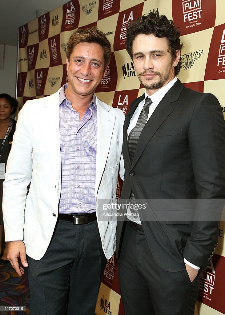Interim Executive Director of Film Independant Sean McManus and actor James Franco attend 'The Broken Tower' An Evening with James Franco during the...