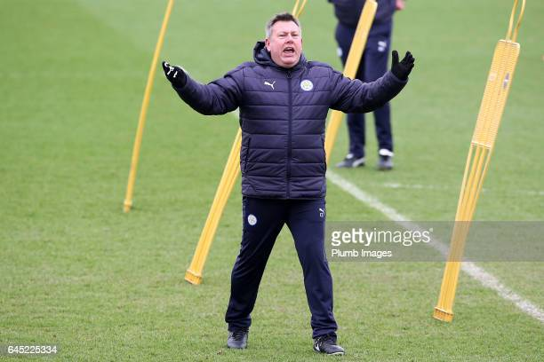 Interim first team manager Craig Shakespeare during the Leicester City training session at Belvoir Drive Training Complex on February 25 2017 in...