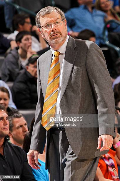 Interim Head Coach PJ Carlesimo of the Brooklyn Nets looks on as his team plays the Oklahoma City Thunder on January 2 2013 at the Chesapeake Energy...