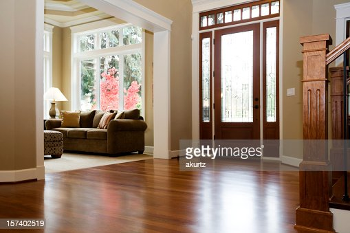 interior architecture luxury foyer with beautiful hardwood floors