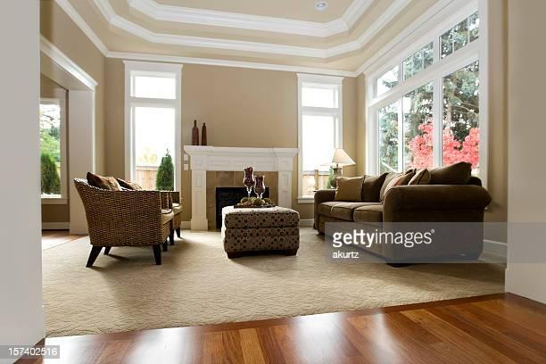 Innenansicht Architektur neue, luxuriöse Wohnzimmer mit moderner