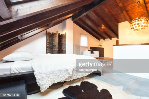 Interior, beautiful loft : Stock Photo