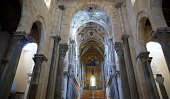 The interior Cathedral-Basilica of Cefalu, is a Roman Catholic church in Cefalu, Sicily, southern Italy.