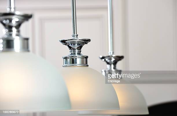 Interior ceiling lightings with white semi-spherical covers