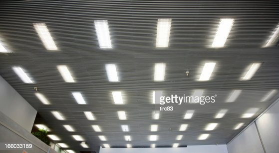 Interior ceiling panels with strip lights