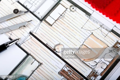 Interior Decorations Plan : Stock Photo