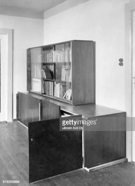 Interior design bookcase in a flat Staatliche Bildstelle Berlin