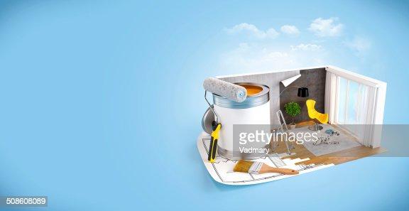 Interior design concept : Stock Photo