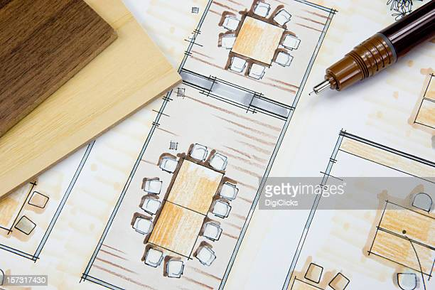Conceito de Design de interiores Escritório