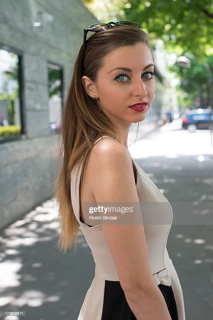 Interior design student Jordan Fons wears an Akira dress on day 3 of Paris Collections: Men on June 28, 2013 in Paris, France.